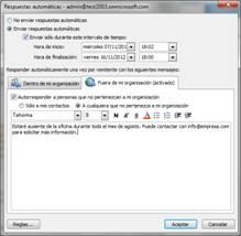 It services blog for Fuera de oficina gmail